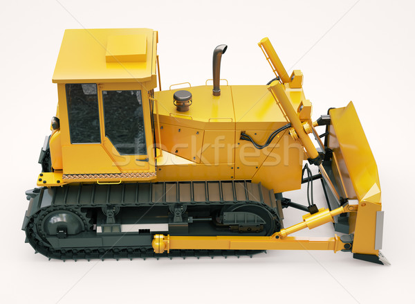 Heavy crawler bulldozer  Stock photo © Supertrooper