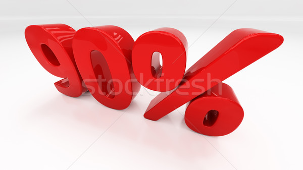 3D ninety percent Stock photo © Supertrooper