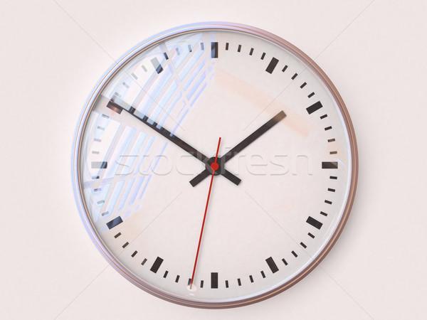Tempo comporre clock primo piano 3D immagine Foto d'archivio © Supertrooper