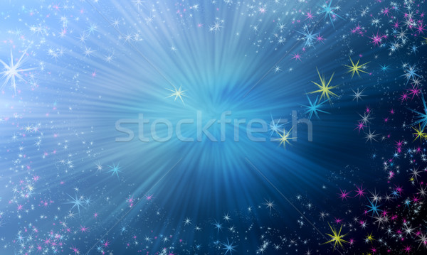 Photo stock: Magie · star · ciel · gradient · battant · brillant