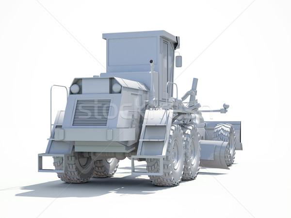 3D beyaz 3d render motor yol yapımı endüstriyel Stok fotoğraf © Supertrooper
