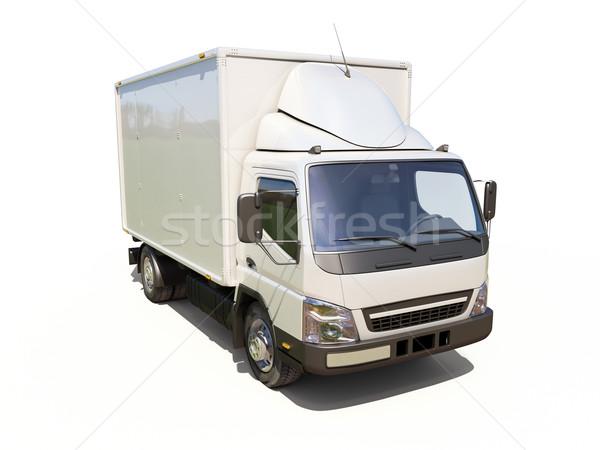 Fehér kereskedelmi szállítóautó szín szállítás házhozszállítás Stock fotó © Supertrooper