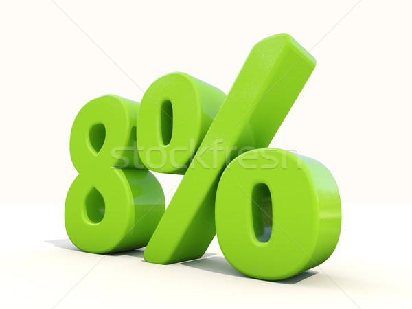 8% percentage rate icon on a white background Stock photo © Supertrooper