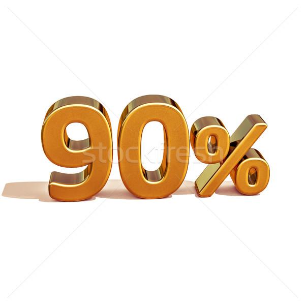 3D золото процент скидка знак продажи Сток-фото © Supertrooper