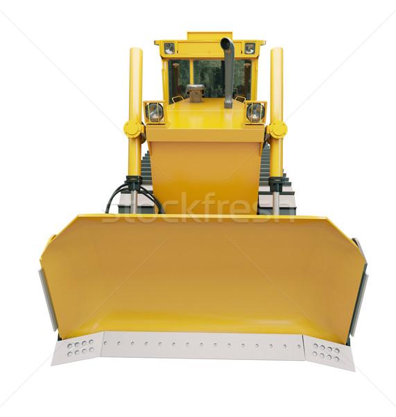 Pesado escavadeira isolado branco construção laranja Foto stock © Supertrooper