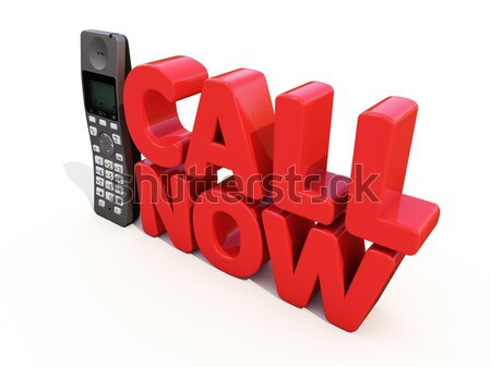Call now Stock photo © Supertrooper