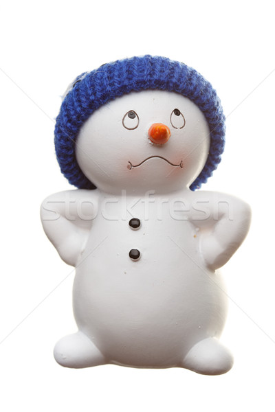 Snowman isolated on white Stock photo © Supertrooper