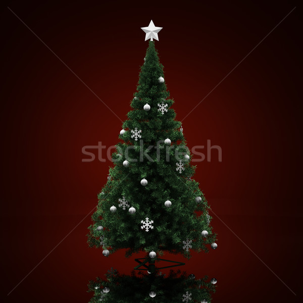 Decorated Christmas tree Stock photo © Supertrooper