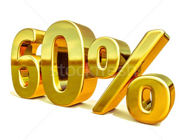 3D золото 60 шестьдесят процент скидка Сток-фото © Supertrooper