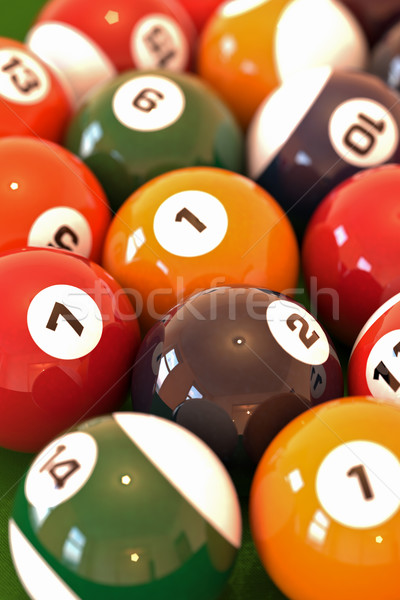 Billiard balls Stock photo © Supertrooper