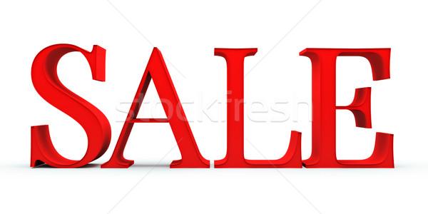 Verkoop 3d tekst geïsoleerd witte mode teken Stockfoto © Supertrooper