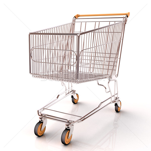 Shopping cart isolated Stock photo © Supertrooper