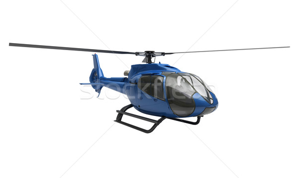 Modern helicopter isolated Stock photo © Supertrooper