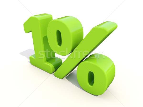 1% percentage rate icon on a white background Stock photo © Supertrooper