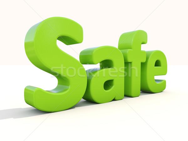 3D parola sicuro icona bianco illustrazione 3d Foto d'archivio © Supertrooper