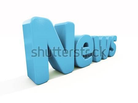 3D noticias icono blanco 3d signo Foto stock © Supertrooper