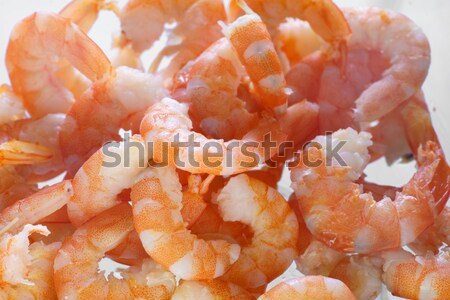 Cooked shrimps close up Stock photo © Supertrooper