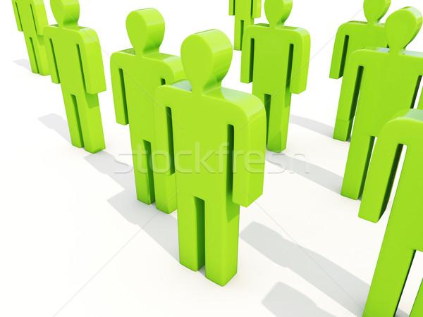 Personas blanco multitud hombre modelo comunicación Foto stock © Supertrooper