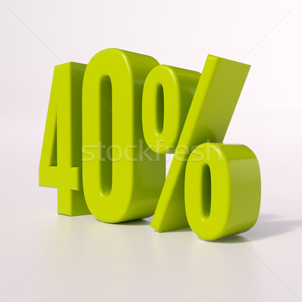Percentage sign, 40 percent Stock photo © Supertrooper