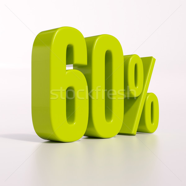 Percentagem assinar 60 por cento 3d render verde Foto stock © Supertrooper