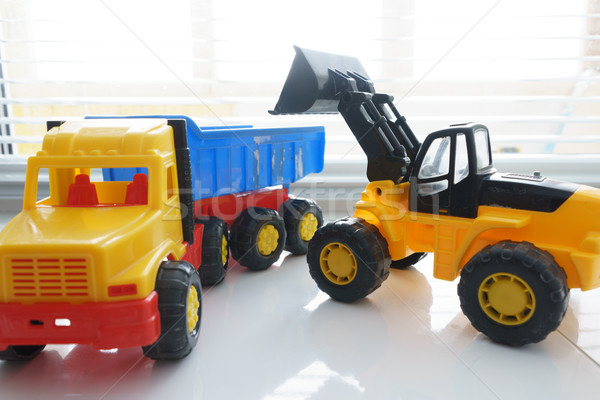 Toy Wheel Loader and Toy Dump Truck Stock photo © Supertrooper
