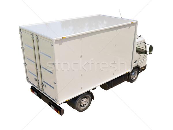 Blanche commerciaux camion de livraison isolé couleur transport Photo stock © Supertrooper