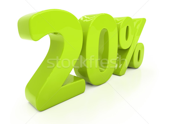 3D twenty percent Stock photo © Supertrooper