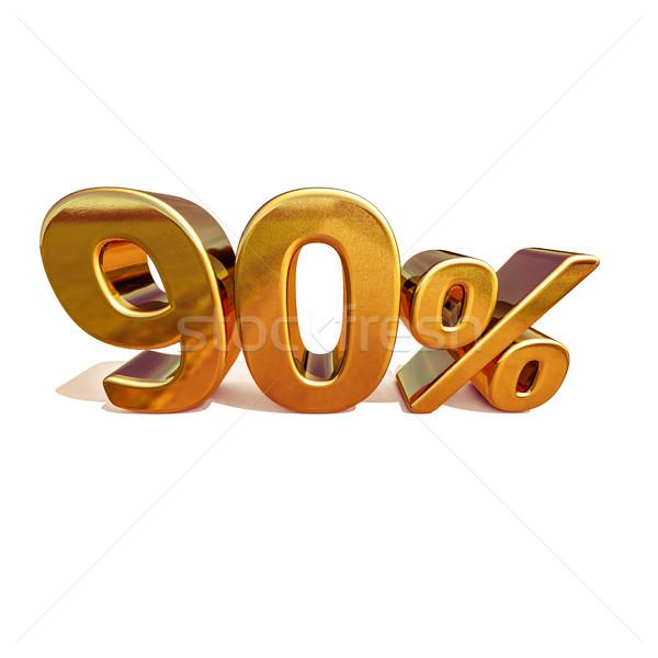 3D ouro por cento desconto assinar venda Foto stock © Supertrooper