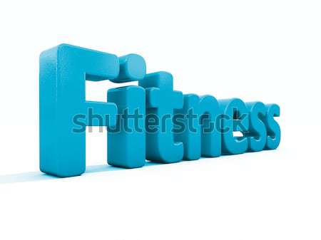 3D woord fitness icon witte 3d illustration Stockfoto © Supertrooper