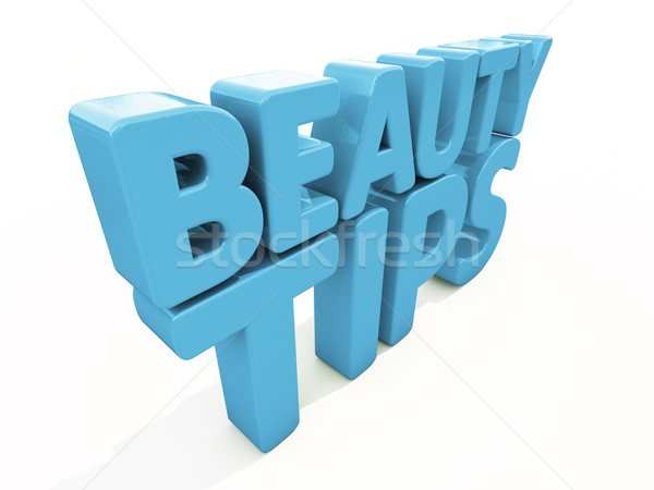 3d Beauty tips Stock photo © Supertrooper
