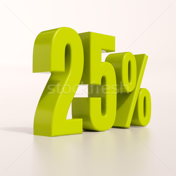 Percentage sign, 25 percent Stock photo © Supertrooper
