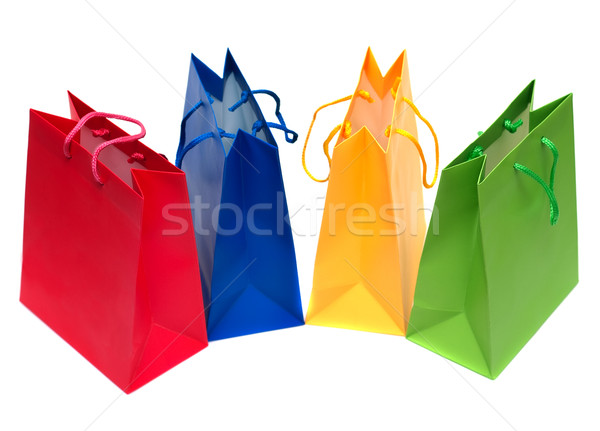 Shopping bags isolated Stock photo © Supertrooper
