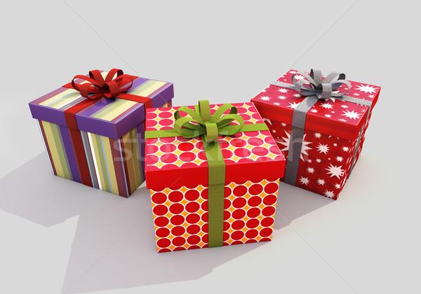 Foto stock: Presentes · cinza · dom · apresentar · alegria
