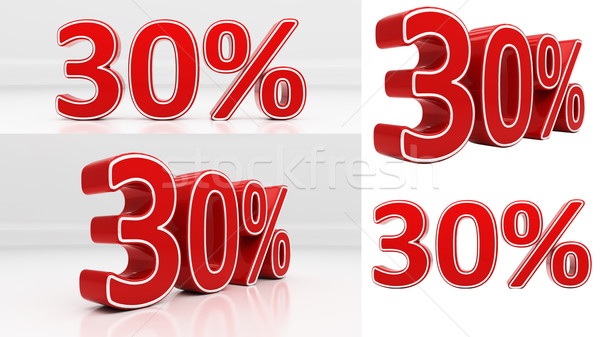 3D thirty percent Stock photo © Supertrooper