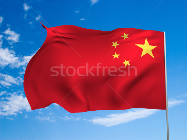 Flag of China Stock photo © Supertrooper