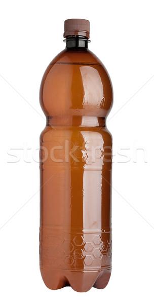Barna műanyag üveg izolált fehér sör Stock fotó © Supertrooper