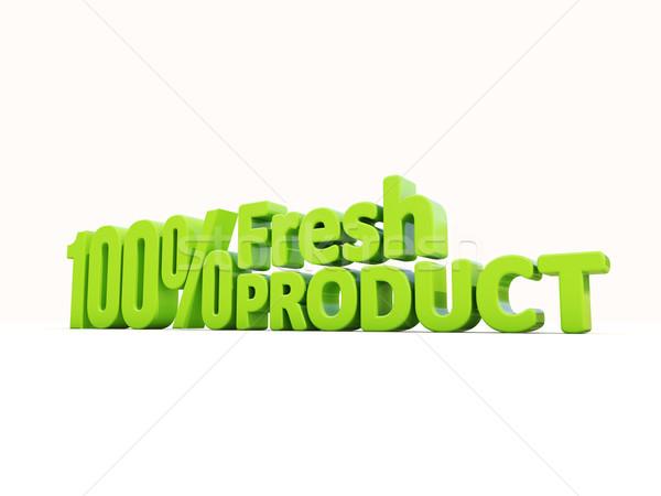Stock photo: 3d Fresh Product