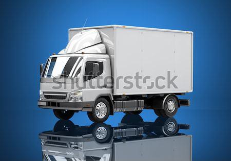 Witte commerciële vrachtwagen kleur vervoer levering Stockfoto © Supertrooper