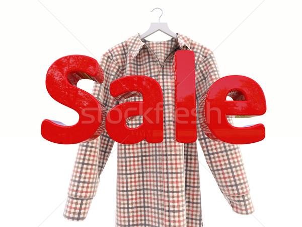 Verkoop shirt licht business markt voorraad Stockfoto © Supertrooper