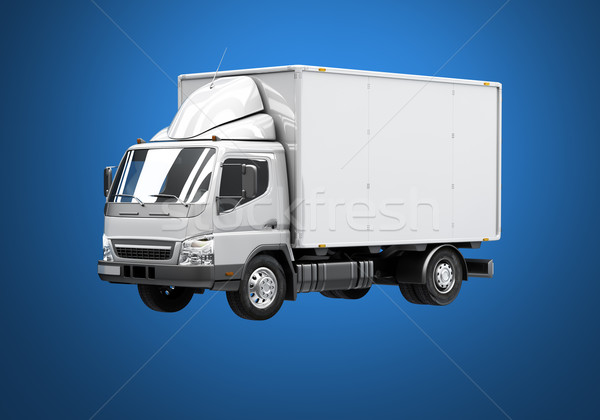 Delivery truck icon Stock photo © Supertrooper