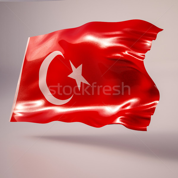 3D realista bandera Turquía Foto stock © Supertrooper