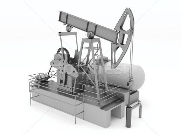 Pumpjack isolated Stock photo © Supertrooper