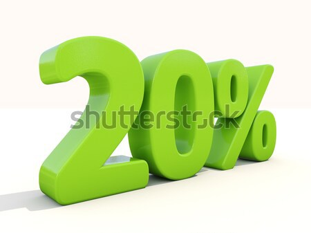 20% percentage rate icon on a white background Stock photo © Supertrooper