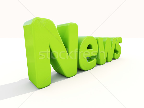3D nieuws icon witte 3d illustration teken Stockfoto © Supertrooper