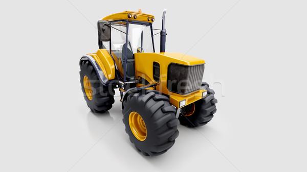Farm tractor in studio Stock photo © Supertrooper