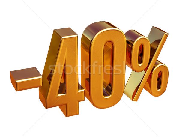 金 40 マイナス 40 パーセント 割引 ストックフォト © Supertrooper