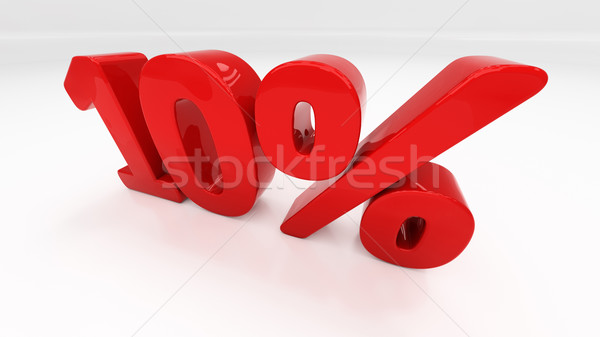 3D ten percent Stock photo © Supertrooper