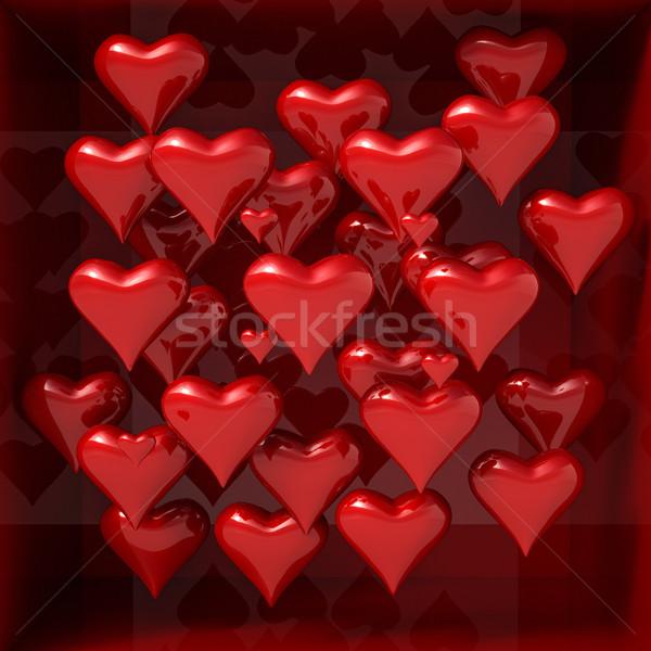 Dia dos namorados 3D corações formas capina projeto Foto stock © Supertrooper
