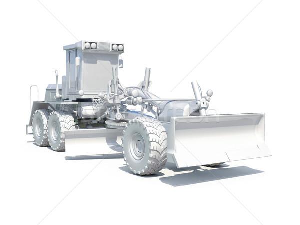 Stok fotoğraf: 3D · beyaz · 3d · render · motor · yol · yapımı · endüstriyel