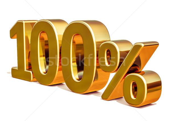 3D золото 100 сто процент скидка Сток-фото © Supertrooper